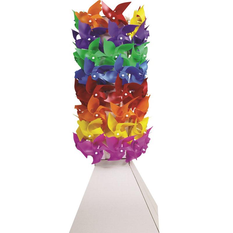 Rüzgar Gülü Kule Standı Mini Ahşep Plastik Kule Set