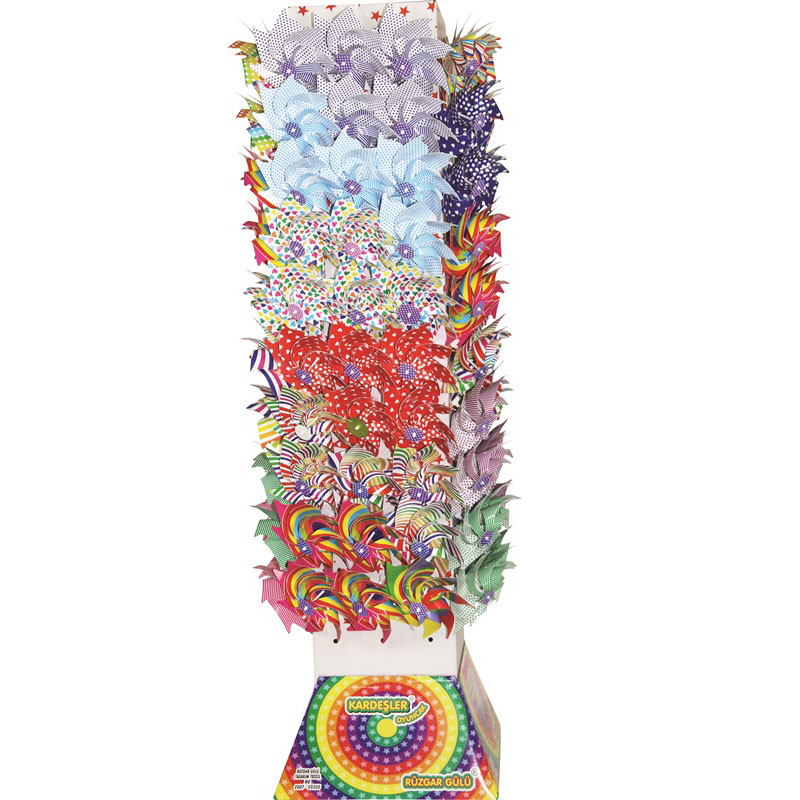 Rüzgar Gülü Kule Standı Görsel Set Renkli Baskılı Kule Set