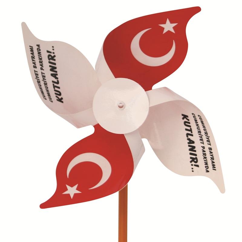 Promosyon Rüzgar Gülü 4 Kanat 19 CM ÇAP